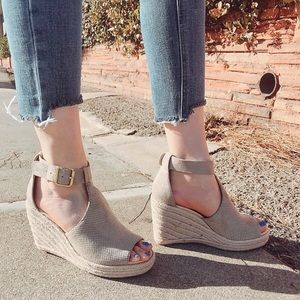 Shoes - Nude Wedge Espadrilles Sizes 6-10